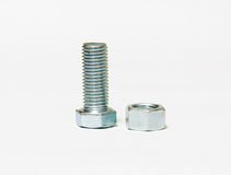 Stainless steel Nut. Size 12x30mm Royalty Free Stock Image