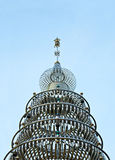 Stainless Steel Pagoda at  Stainless Steel Temple ,Thail Royalty Free Stock Photo