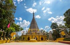 The stainless steel pagoda Thailand Stock Photos