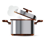 Stainless steel pan Royalty Free Stock Photos