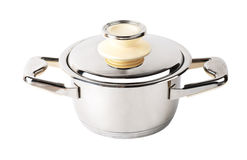 Stainless steel pan Stock Image