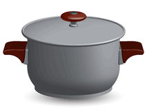Stainless steel pan Royalty Free Stock Photo