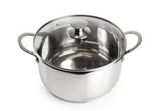 Stainless steel pan Royalty Free Stock Photography