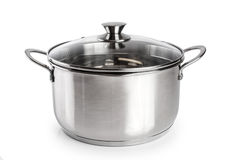 Stainless steel pan Royalty Free Stock Image