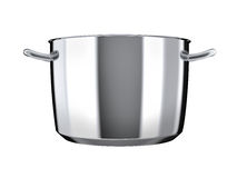 Stainless steel pan without lid Royalty Free Stock Photo