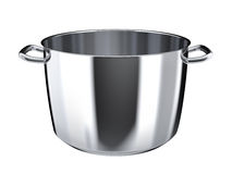 Stainless steel pan without lid Royalty Free Stock Photos