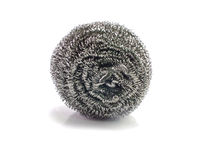 Stainless steel pan scourers Stock Photos