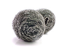 Stainless steel pan scourers Stock Photo