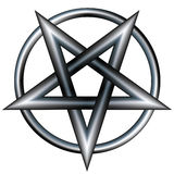 Stainless steel pentagram Royalty Free Stock Photos