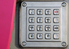 Stainless steel phone keypad Stock Photography