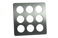 Stainless Steel Photo Frame Stock Photography