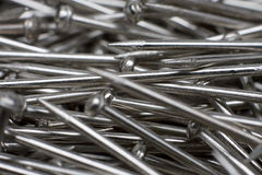 Stainless steel pins Royalty Free Stock Photo