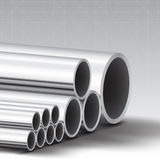 Stainless steel pipe  background. Illustration Stock Photos