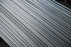 Stainless steel pipe in factory Royalty Free Stock Image