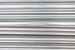 Stainless steel pipes Royalty Free Stock Image