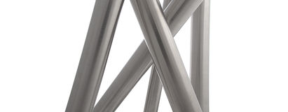 Stainless steel pipes vertical isolated Royalty Free Stock Image