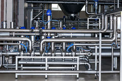 Stainless steel piping Stock Photography