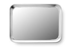 Stainless steel plate Stock Photography