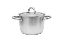 Stainless steel pot Stock Image