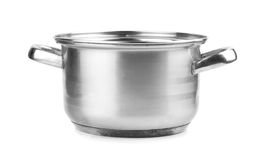 Stainless steel pot Royalty Free Stock Photos