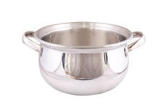 Stainless steel pot Royalty Free Stock Photography