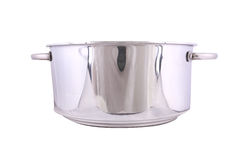 Stainless steel pot Stock Photos