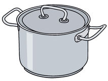 Stainless steel pot royalty free illustration