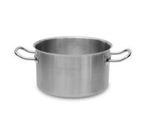 Stainless steel pot. Royalty Free Stock Image