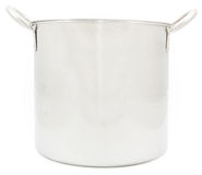 Stainless steel pot isolated Royalty Free Stock Images