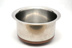 Stainless steel pots and kitchenware Royalty Free Stock Photo