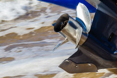 Stainless Steel Prop Outboard Motor Stock Photography