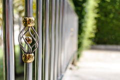 Stainless steel railing Stock Photography