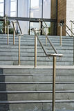 Stainless steel railings Stock Image