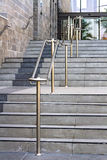 Stainless steel railings Royalty Free Stock Photo