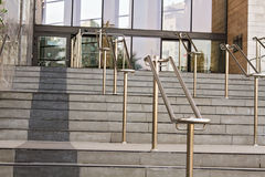 Stainless steel railings Royalty Free Stock Image