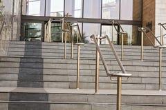 Stainless steel railings Royalty Free Stock Image