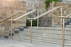 Stainless steel railings Stock Photo