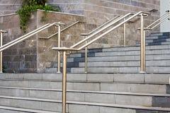 Stainless steel railings Stock Photos