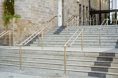 Stainless steel railings Royalty Free Stock Photos