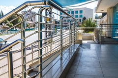 Stainless steel railings Stock Photography