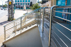 Stainless steel railings Royalty Free Stock Images