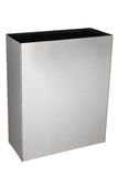 Rectangular trash box stainless steel Stock Image