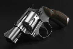 Stainless steel revolver Stock Images