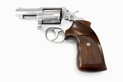 Stainless Steel Revolver Royalty Free Stock Photography