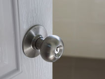 Stainless steel round ball door knob Royalty Free Stock Image