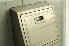 Stainless steel rubbish chute Royalty Free Stock Photo