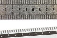 Stainless steel ruler Royalty Free Stock Photography