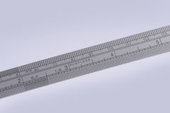 Stainless steel ruler Stock Photography