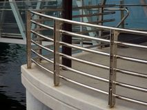 Stainless Steel Safety Rails Royalty Free Stock Images