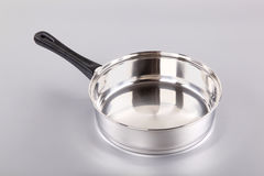 Stainless steel saucepan Royalty Free Stock Photography
